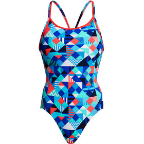 Funkita Diamond Back One Piece Badpak Dames bont